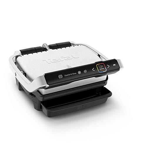 Tefal Optigrill Elite GC750D   Kontaktgrill   Elektrischer Indoor-Grill   12 automatische Grillprogramme   Intuitiver Sensor   Grillboost-Funktion   Spülmaschinengeeignetes Zubehör   Rezeptbuch App