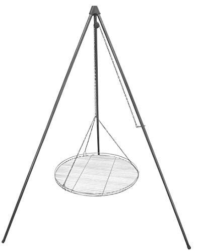 Huber Grillgeräte–Dreibein Schwenkgrill inkl. 70 cm Grillrost aus deutscher Produktion