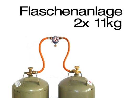 TGO Zweiflaschenanlage Multimatic 30 mbar Ausgang SRV 8mm Umschaltautomatik Camping Gasflasche Gas