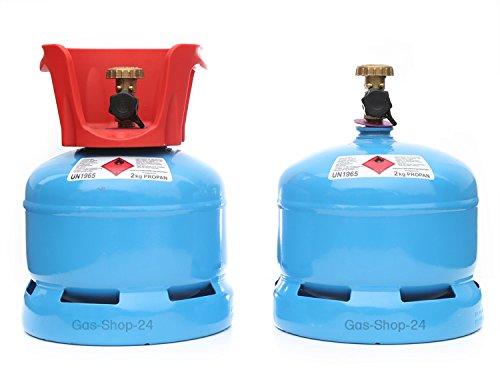 Propangasflasche/Gasflasche 2 kg mit abnehmbaren Schutzkragen (Propan, Gasflasche Kleiner als 3 kg/ 5 kg / 11 kg)